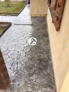 allees beton imprime