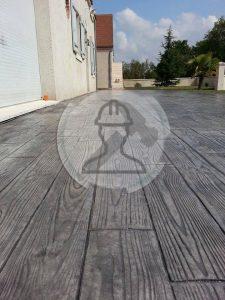 beton imprime bois