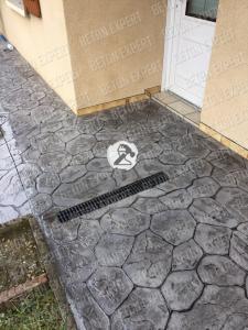 beton imprime iregulierre