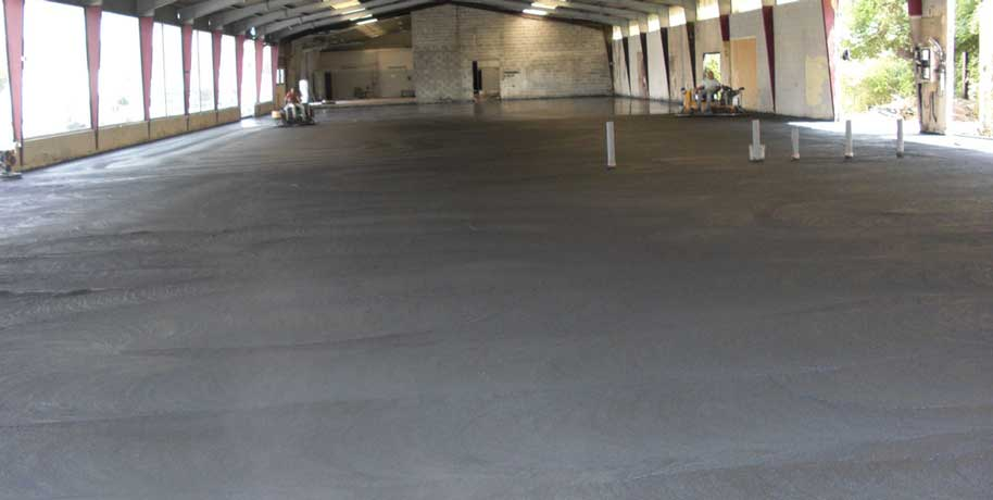 revêtement de sol industriel en Béton lissé